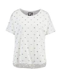 weißes T-Shirt mit einem Rundhalsausschnitt von Catwalk Junkie