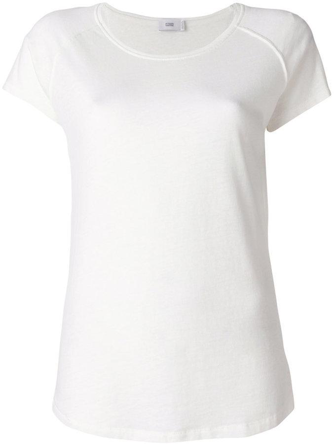 weißes T-Shirt mit einem Rundhalsausschnitt von Closed