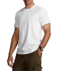 weißes T-Shirt mit einem Rundhalsausschnitt von Eddie Bauer
