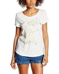 Weißes T-Shirt mit Rundhalsausschnitt von Esprit