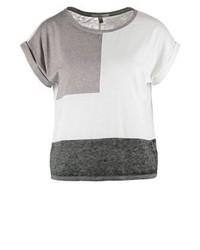 weißes T-Shirt mit einem Rundhalsausschnitt von Mavi