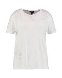 weißes T-Shirt mit einem Rundhalsausschnitt von New Look