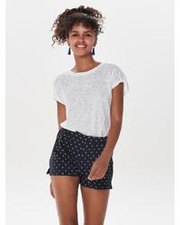 weißes T-Shirt mit einem Rundhalsausschnitt von Only