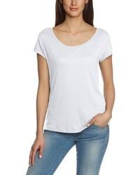 Weißes T-Shirt mit Rundhalsausschnitt von Pieces
