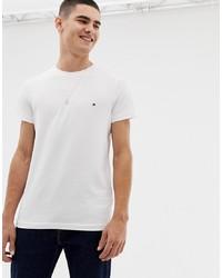 weißes T-Shirt mit einem Rundhalsausschnitt von Tommy Hilfiger