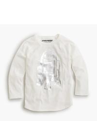 weißes T-shirt mit Sternenmuster