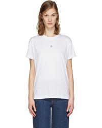weißes T-shirt mit Sternenmuster von Stella McCartney