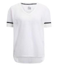 Weißes T-Shirt mit V-Ausschnitt von Even&Odd