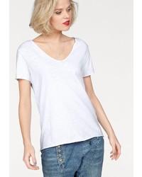 weißes T-Shirt mit einem V-Ausschnitt von IMP BY IMPERIAL
