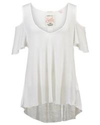 Weißes T-Shirt mit V-Ausschnitt von Superdry