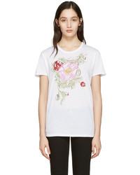 weißes T-shirt von Alexander McQueen