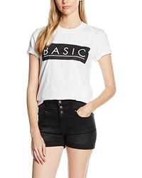 weißes T-shirt von Boohoo