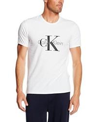 weißes T-shirt von Calvin Klein