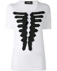 weißes T-shirt von Dsquared2