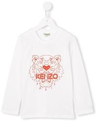 weißes T-shirt von Kenzo
