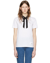 weißes T-shirt von Miu Miu