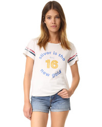 weißes T-shirt von Mother