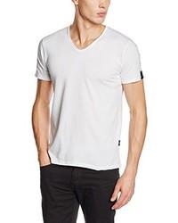 weißes T-shirt von Replay