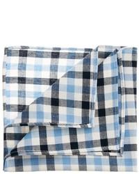 weißes und blaues Baumwolle Einstecktuch mit Vichy-Muster von Asos