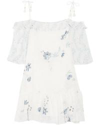 weißes und blaues bedrucktes Freizeitkleid von See by Chloe