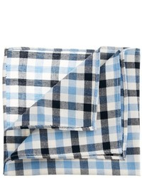 weißes und blaues Einstecktuch mit Vichy-Muster von Asos
