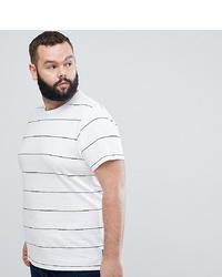 weißes und dunkelblaues horizontal gestreiftes T-Shirt mit einem Rundhalsausschnitt von French Connection