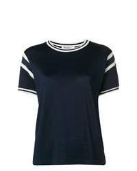 weißes und dunkelblaues T-Shirt mit einem Rundhalsausschnitt von T by Alexander Wang