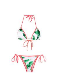 weißes und grünes Bikinioberteil von BRIGITTE