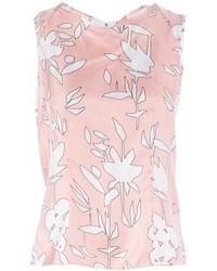 weißes und rosa bedrucktes Trägershirt von Marni