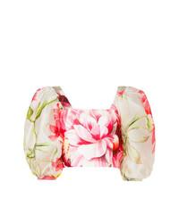 weißes und rosa kurzes Oberteil mit Blumenmuster von Bambah