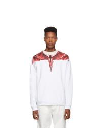 weißes und rotes bedrucktes Sweatshirt