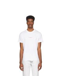 weißes und rotes bedrucktes T-Shirt mit einem Rundhalsausschnitt von Stella McCartney