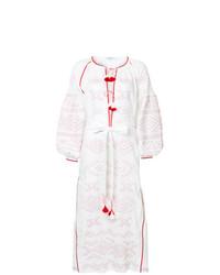 weißes und rotes besticktes Folklore Kleid von March 11