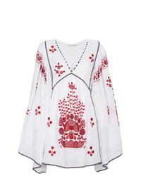 weißes und rotes besticktes Folklore Kleid von Vita Kin