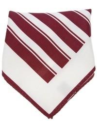 weißes und rotes Einstecktuch von Ermenegildo Zegna