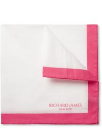 weißes und rotes Einstecktuch von Richard James