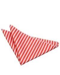 weißes und rotes horizontal gestreiftes Einstecktuch
