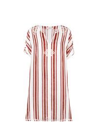 weißes und rotes Strandkleid von Tory Burch