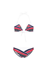 weißes und rotes und dunkelblaues Bikinioberteil von Perfect Moment
