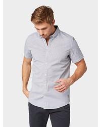 weißes und schwarzes bedrucktes Kurzarmhemd von Tom Tailor
