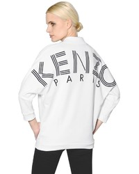 weißes und schwarzes bedrucktes Sweatshirt