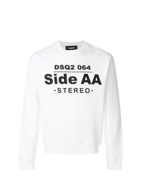 weißes und schwarzes bedrucktes Sweatshirt von DSQUARED2
