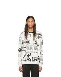 weißes und schwarzes bedrucktes Sweatshirt von Givenchy