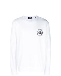 weißes und schwarzes bedrucktes Sweatshirt von Karl Lagerfeld