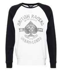 weißes und schwarzes bedrucktes Sweatshirt von KINGKEROSIN