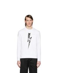 weißes und schwarzes bedrucktes Sweatshirt von Neil Barrett