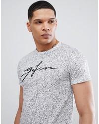 weißes und schwarzes bedrucktes T-Shirt mit einem Rundhalsausschnitt von Good For Nothing