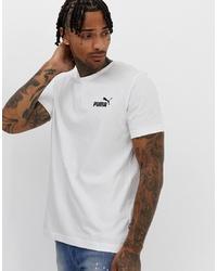 weißes und schwarzes bedrucktes T-Shirt mit einem Rundhalsausschnitt von Puma