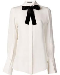 weißes und schwarzes Businesshemd von Alexander McQueen