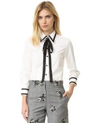 weißes und schwarzes Businesshemd von Marc Jacobs